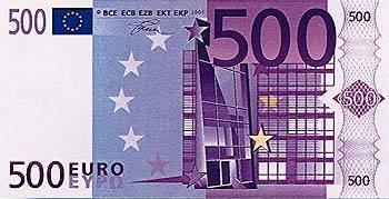 euro w hrung scheine 500 euro. Black Bedroom Furniture Sets. Home Design Ideas